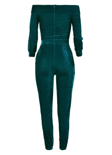 Sexy Women Velvet Jumpsuit Off Shoulder Long Sleeve Warm Playsuit Rompers One Piece Bodysuit Overalls Pink/Burgundy/BlueApparel &amp; Jewelry<br>Sexy Women Velvet Jumpsuit Off Shoulder Long Sleeve Warm Playsuit Rompers One Piece Bodysuit Overalls Pink/Burgundy/Blue<br>