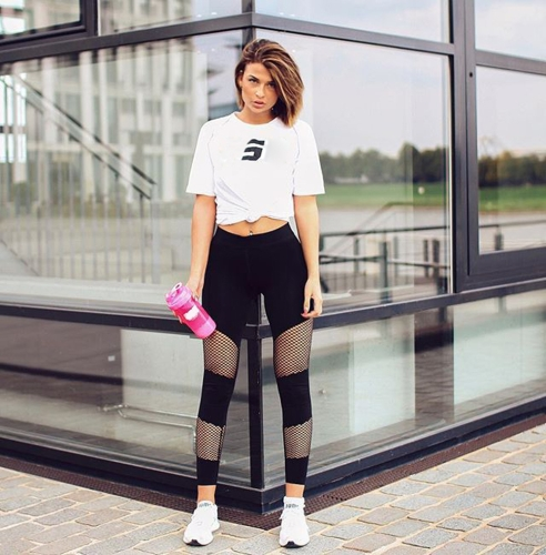 Women Fitness Yoga Pants Sports Leggings Mesh Insert Tights Workout Running Skinny Casual Trousers BlackApparel &amp; Jewelry<br>Women Fitness Yoga Pants Sports Leggings Mesh Insert Tights Workout Running Skinny Casual Trousers Black<br>