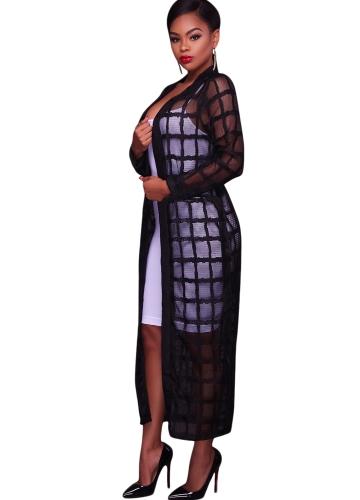 Sexy Women Mesh Maxi Cover Up Crochet Lace Bandage Long Sleeves Long Beach Cardigan Swimwear Black/WhiteApparel &amp; Jewelry<br>Sexy Women Mesh Maxi Cover Up Crochet Lace Bandage Long Sleeves Long Beach Cardigan Swimwear Black/White<br>