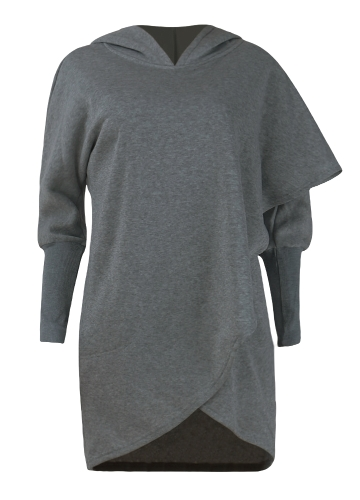 Fashion Women Hoodie Sweatshirts Long Sleeve Asymmetric Casual Loose Irregular Pullover Hooded Tops Light Grey/Dark Grey/BlueApparel &amp; Jewelry<br>Fashion Women Hoodie Sweatshirts Long Sleeve Asymmetric Casual Loose Irregular Pullover Hooded Tops Light Grey/Dark Grey/Blue<br>