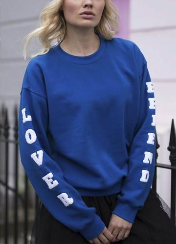 New Fashion Women Sweatshirts O Neck Long Sleeve Pullover Plus Size Loose Tops BlueApparel &amp; Jewelry<br>New Fashion Women Sweatshirts O Neck Long Sleeve Pullover Plus Size Loose Tops Blue<br>