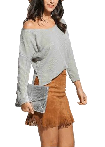 Women Casual Loose Knitted Sweater One Shoulder Long Sleeve Solid Thin Jumper Pullover KnitwearApparel &amp; Jewelry<br>Women Casual Loose Knitted Sweater One Shoulder Long Sleeve Solid Thin Jumper Pullover Knitwear<br>