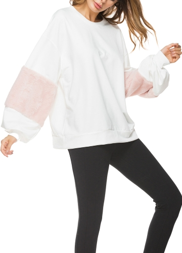 Women Loose Sweatershirt Pullovers Lantern Long Sleeves Fur Dropped Shoulder Jumpers Hoodies Casual Tops OutwearApparel &amp; Jewelry<br>Women Loose Sweatershirt Pullovers Lantern Long Sleeves Fur Dropped Shoulder Jumpers Hoodies Casual Tops Outwear<br>