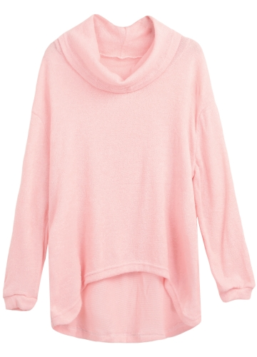 Women Knitted Sweater Pullover Jumper Turtleneck Asymmetric Hem Casual Loose Knitwear TopsApparel &amp; Jewelry<br>Women Knitted Sweater Pullover Jumper Turtleneck Asymmetric Hem Casual Loose Knitwear Tops<br>