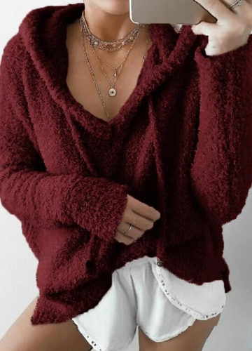 Women Winter Warm Drawstring Hooded Sweatshirt Sweaters Faux Fur Outwear Hoodie Casual OvercoatApparel &amp; Jewelry<br>Women Winter Warm Drawstring Hooded Sweatshirt Sweaters Faux Fur Outwear Hoodie Casual Overcoat<br>