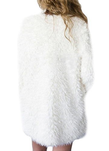 New Winter Women Fluffy Faux Fur Coat Soft Lining Warm Solid Elegant Midi Outerwear OvercoatApparel &amp; Jewelry<br>New Winter Women Fluffy Faux Fur Coat Soft Lining Warm Solid Elegant Midi Outerwear Overcoat<br>