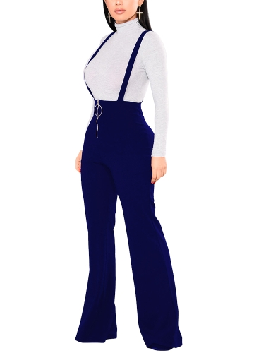 Women Dungarees Overalls Bell-bottomed High Waist O-ring Zipper Front Flared Casual Jumpsuits Pants TrousersApparel &amp; Jewelry<br>Women Dungarees Overalls Bell-bottomed High Waist O-ring Zipper Front Flared Casual Jumpsuits Pants Trousers<br>