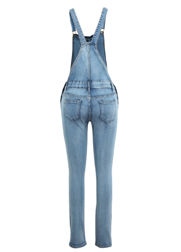 New Women Ripped Denim Jumpsuit Overalls Pockets Button Casual Dungarees Long Jeans Playsuit RompersApparel &amp; Jewelry<br>New Women Ripped Denim Jumpsuit Overalls Pockets Button Casual Dungarees Long Jeans Playsuit Rompers<br>