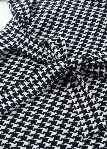 Women Houndstooth Plaid Cardigan Coat Long Sleeves Open Front Waist Strap Asymmetrical Casual Tops OutwearApparel &amp; Jewelry<br>Women Houndstooth Plaid Cardigan Coat Long Sleeves Open Front Waist Strap Asymmetrical Casual Tops Outwear<br>