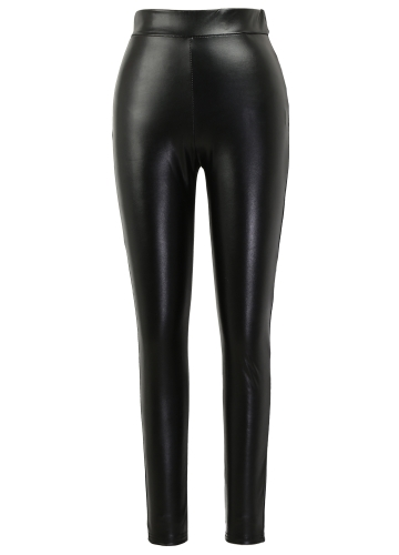 Sexy Women Pu Wet Look Faux Leather Stretchy Leggings Elastic Waist High Rise Skinny Pants Trousers Jeggings BlackApparel &amp; Jewelry<br>Sexy Women Pu Wet Look Faux Leather Stretchy Leggings Elastic Waist High Rise Skinny Pants Trousers Jeggings Black<br>