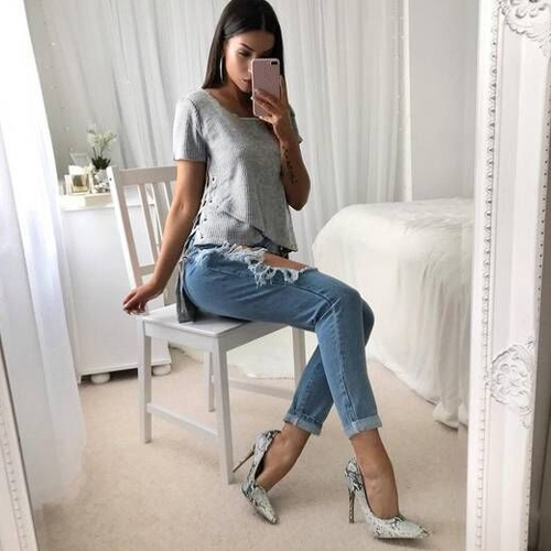 Sexy Women Knitted Sweater Cross Lace Up Bandage High-Low Hem Slim Tops Tee Pullover Knitwear GreyApparel &amp; Jewelry<br>Sexy Women Knitted Sweater Cross Lace Up Bandage High-Low Hem Slim Tops Tee Pullover Knitwear Grey<br>