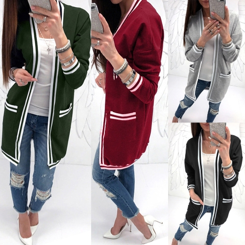 New Women Cardigan Poncho Plus Size Coat Thin Kimono Long Sleeve Pockets Loose OutwearApparel &amp; Jewelry<br>New Women Cardigan Poncho Plus Size Coat Thin Kimono Long Sleeve Pockets Loose Outwear<br>