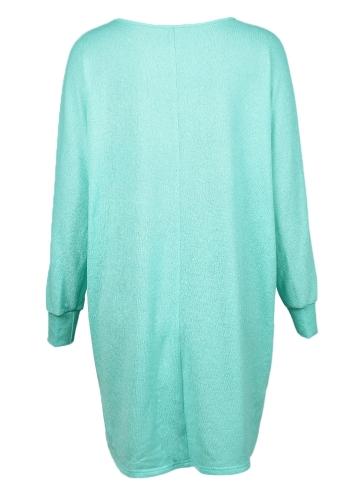 Fashion Women T-Shirts Tops Big Size Round Collar Dip Hem Casual Plus Size Tees Blue/GreenApparel &amp; Jewelry<br>Fashion Women T-Shirts Tops Big Size Round Collar Dip Hem Casual Plus Size Tees Blue/Green<br>