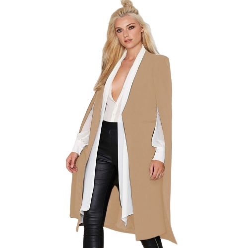 Autumn Women Long Cloak Blazer Coat Cape Cardigan Jacket Slim Office OL Suit Casual Solid OuterwearApparel &amp; Jewelry<br>Autumn Women Long Cloak Blazer Coat Cape Cardigan Jacket Slim Office OL Suit Casual Solid Outerwear<br>