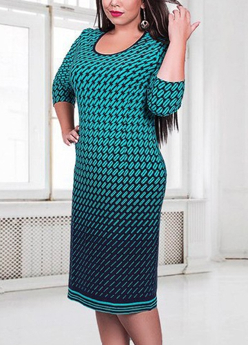 Women Plus Size Dress Houndstooth O-Neck Pencil Party Dress Ladies Bodycon Slim Casual Vestidos Green/Pink/WhiteApparel &amp; Jewelry<br>Women Plus Size Dress Houndstooth O-Neck Pencil Party Dress Ladies Bodycon Slim Casual Vestidos Green/Pink/White<br>