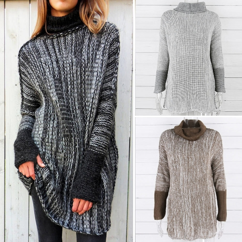 New Winter Spring Women Oversized Rib Knit Sweater Turn-down Collar Long Sleeve Pullover KnitwearApparel &amp; Jewelry<br>New Winter Spring Women Oversized Rib Knit Sweater Turn-down Collar Long Sleeve Pullover Knitwear<br>