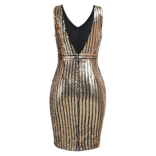 Sexy Women Sequined Dress Backless Deep V-Neck Sleeveless Cut Out Slim Party Club Cocktail Mini DressesApparel &amp; Jewelry<br>Sexy Women Sequined Dress Backless Deep V-Neck Sleeveless Cut Out Slim Party Club Cocktail Mini Dresses<br>