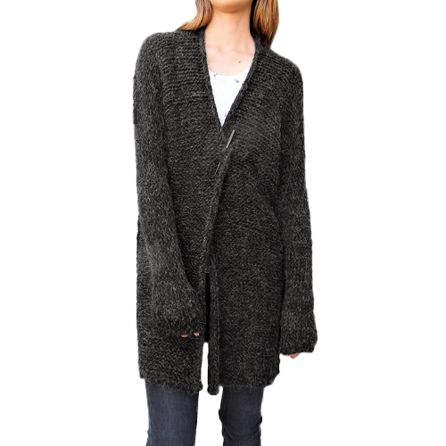 Women Knitted Cardigan Coat Open Front Long Sleeves Dropped Shoulder Loose OutwearApparel &amp; Jewelry<br>Women Knitted Cardigan Coat Open Front Long Sleeves Dropped Shoulder Loose Outwear<br>