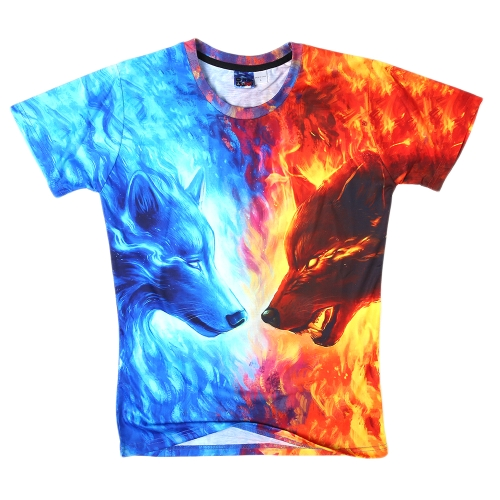 Fashion Summer Loose 3D Short Sleeve T-shirt Vivid Printing for Men and WomenApparel &amp; Jewelry<br>Fashion Summer Loose 3D Short Sleeve T-shirt Vivid Printing for Men and Women<br>