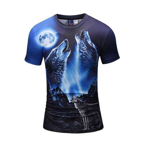 Fashion 3D Short Sleeve T-shirt Vivid Printing Pattern Loose Style for Men and WomenApparel &amp; Jewelry<br>Fashion 3D Short Sleeve T-shirt Vivid Printing Pattern Loose Style for Men and Women<br>