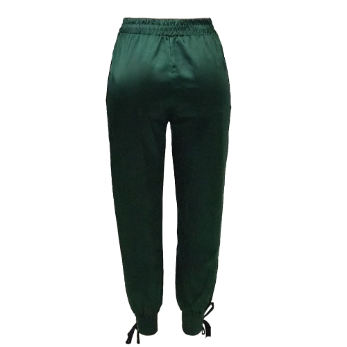 Sexy Women Long Pants High Split Striped Casual Loose Solid Track Pants High Waist Trousers GreenApparel &amp; Jewelry<br>Sexy Women Long Pants High Split Striped Casual Loose Solid Track Pants High Waist Trousers Green<br>