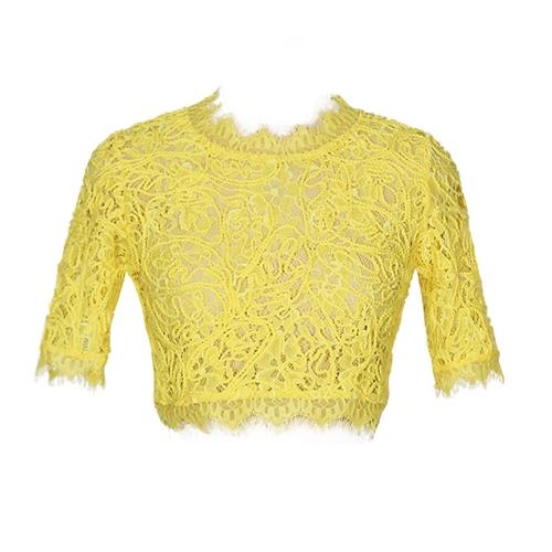 Sexy Women Sheer Lace Crop Top O-Neck Short Sleeve Crochet Tank Top Slim Short T-shirtApparel &amp; Jewelry<br>Sexy Women Sheer Lace Crop Top O-Neck Short Sleeve Crochet Tank Top Slim Short T-shirt<br>