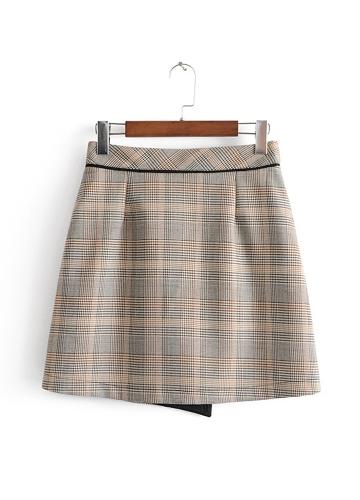 Women Skirt Tweed Plaid Buttons High Waist Above Knee Mini Casual Autumn Winter SkirtApparel &amp; Jewelry<br>Women Skirt Tweed Plaid Buttons High Waist Above Knee Mini Casual Autumn Winter Skirt<br>