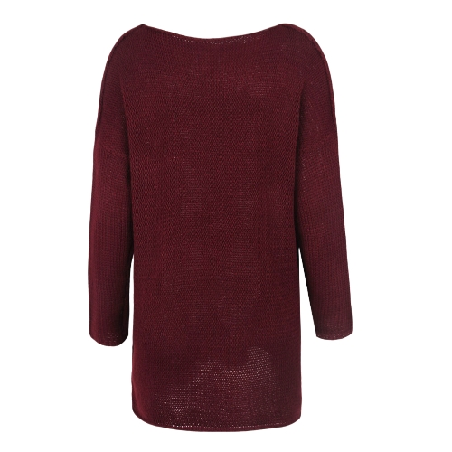 Women Sweater and Pullovers O-Neck Knitted Sweater Thick Knitting Tops Oversized Loose Casual Long JumperApparel &amp; Jewelry<br>Women Sweater and Pullovers O-Neck Knitted Sweater Thick Knitting Tops Oversized Loose Casual Long Jumper<br>