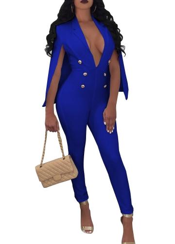 New Sexy Women V Neck Jumpsuit Buttons Cloak Cape Bodysuit Rompers Long Pants One Piece OverallsApparel &amp; Jewelry<br>New Sexy Women V Neck Jumpsuit Buttons Cloak Cape Bodysuit Rompers Long Pants One Piece Overalls<br>