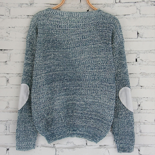 New Women Loose Knitted Sweater Elbow Heart Patch Solid Long Sleeve Casual Knit Pullover JumperApparel &amp; Jewelry<br>New Women Loose Knitted Sweater Elbow Heart Patch Solid Long Sleeve Casual Knit Pullover Jumper<br>