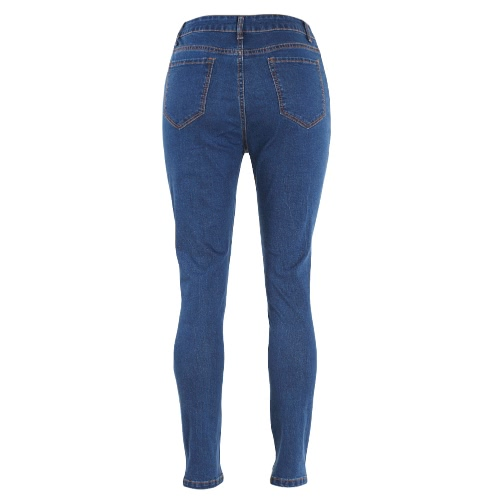 New Women Ripped Jeans Denim Destroyed Frayed Hole Zipper Pockets Casual Skinny Pencil Pants Trousers Tights BlueApparel &amp; Jewelry<br>New Women Ripped Jeans Denim Destroyed Frayed Hole Zipper Pockets Casual Skinny Pencil Pants Trousers Tights Blue<br>