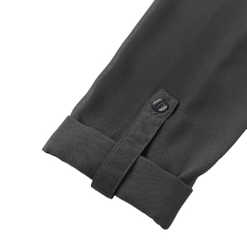 New Women Chiffon Blouse Asymmetric Hem Long Sleeve O-Neck Solid Loose Shirt Casual Top GreyApparel &amp; Jewelry<br>New Women Chiffon Blouse Asymmetric Hem Long Sleeve O-Neck Solid Loose Shirt Casual Top Grey<br>