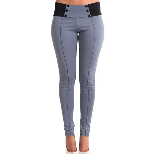 New Fashion Women Slim Pants Elastic Low Waist Buttons Sexy Bodycon Skinny Pencil Leggings TrousersApparel &amp; Jewelry<br>New Fashion Women Slim Pants Elastic Low Waist Buttons Sexy Bodycon Skinny Pencil Leggings Trousers<br>