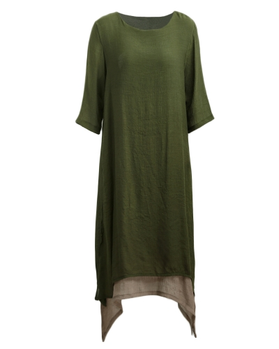 New Women Vintage Dress Split Irregular Hem Casual Loose Boho Long Maxi Dresses Orange/Army Green/CoffeeApparel &amp; Jewelry<br>New Women Vintage Dress Split Irregular Hem Casual Loose Boho Long Maxi Dresses Orange/Army Green/Coffee<br>