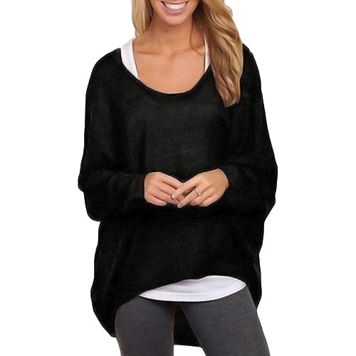 New Fashion Women Blouses O neck Batwing Long Sleeve Irregular Hem Casual Loose Solid Shirts Top 9 ColorsApparel &amp; Jewelry<br>New Fashion Women Blouses O neck Batwing Long Sleeve Irregular Hem Casual Loose Solid Shirts Top 9 Colors<br>