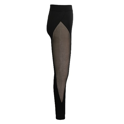 New Women Sport Yoga Leggings Sheer Mesh Splice Stretch Fitness Gym Running Bodycon Pants BlackApparel &amp; Jewelry<br>New Women Sport Yoga Leggings Sheer Mesh Splice Stretch Fitness Gym Running Bodycon Pants Black<br>