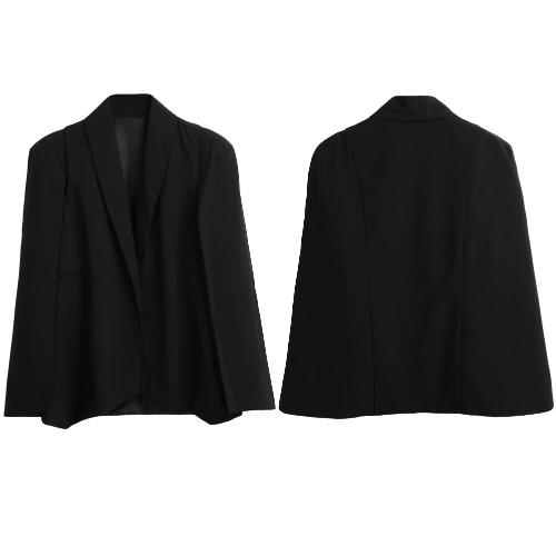 New Women Cape Blazer Jacket Lapel Split Pockets Casual Solid Cloak Coat Suit Workwear OuterwearApparel &amp; Jewelry<br>New Women Cape Blazer Jacket Lapel Split Pockets Casual Solid Cloak Coat Suit Workwear Outerwear<br>