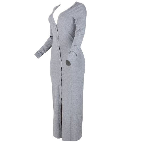 Autumn Winter Women Long Trench Coat Long Sleeves Solid Cardigan Slim Warm Overcoat Grey/BlackApparel &amp; Jewelry<br>Autumn Winter Women Long Trench Coat Long Sleeves Solid Cardigan Slim Warm Overcoat Grey/Black<br>