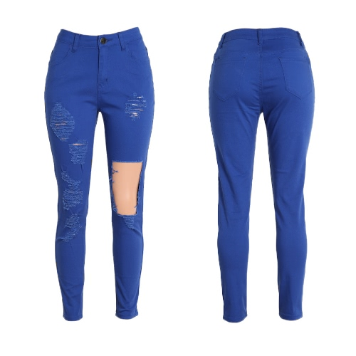 New Sexy Women Denim Jeans Ripped Hole Tights High Waist Skinny Bodycon Pants Pencil TrousersApparel &amp; Jewelry<br>New Sexy Women Denim Jeans Ripped Hole Tights High Waist Skinny Bodycon Pants Pencil Trousers<br>