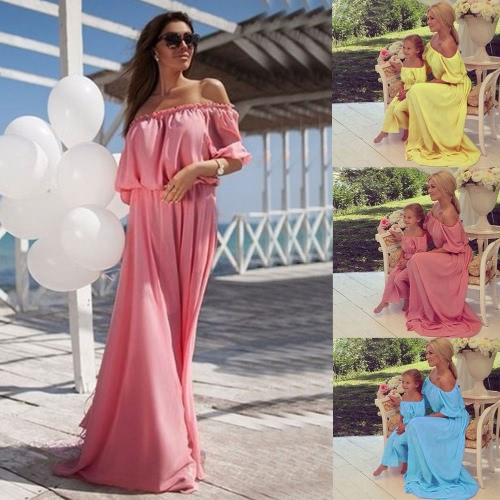 Women Chiffon Maxi Dress Family Matching Outfits Mother Daughter Dress Mommy and Me Clothes Parents Kids Long DressApparel &amp; Jewelry<br>Women Chiffon Maxi Dress Family Matching Outfits Mother Daughter Dress Mommy and Me Clothes Parents Kids Long Dress<br>
