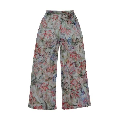 New Fashion Women Chiffon Wide Leg Pants Floral Print Loose Thin Belted Trousers Beachwear Long Pants White/BlackApparel &amp; Jewelry<br>New Fashion Women Chiffon Wide Leg Pants Floral Print Loose Thin Belted Trousers Beachwear Long Pants White/Black<br>