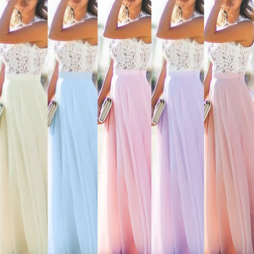 Sexy Women Maxi Long Dress Sheer lace Mesh Splice Sleeveless Zipper Elegant Evening Party Dress Beige/Blue/PurpleApparel &amp; Jewelry<br>Sexy Women Maxi Long Dress Sheer lace Mesh Splice Sleeveless Zipper Elegant Evening Party Dress Beige/Blue/Purple<br>