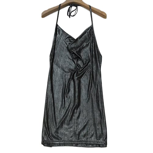 Sexy Women Mini Bodycon Dress Halter Strappy Backless V-Neck Sleeveless Vintage Casual Party Clubwear Sundress SilverApparel &amp; Jewelry<br>Sexy Women Mini Bodycon Dress Halter Strappy Backless V-Neck Sleeveless Vintage Casual Party Clubwear Sundress Silver<br>