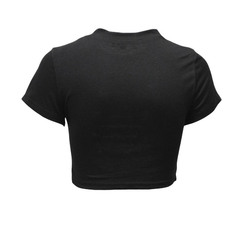 Sexy Women Ripped Holes Crop Top Hollow Out T-Shirt Short Sleeves Cropped Top Shirt Black/White/PinkApparel &amp; Jewelry<br>Sexy Women Ripped Holes Crop Top Hollow Out T-Shirt Short Sleeves Cropped Top Shirt Black/White/Pink<br>