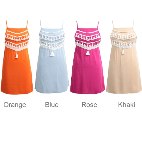New Women Beach Summer Mini Dress Tassel Strap Backless Casual Loose A-Line DressApparel &amp; Jewelry<br>New Women Beach Summer Mini Dress Tassel Strap Backless Casual Loose A-Line Dress<br>