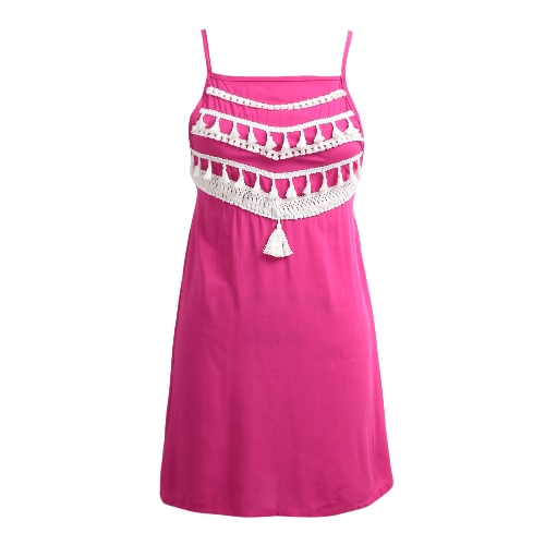 New Women Beach Summer Mini Dress Tassel Strap Backless Casual Loose A-Line DressApparel &amp; Jewelry<br>New Women Beach Summer Mini Dress Tassel Strap Backless Casual Loose A-Line Dress<br>