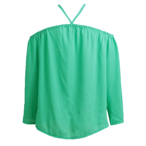 New Sexy Women Off Shoulder Chiffon Blouse Halter Long Sleeve Casual Loose Shirt Summer T-Shirt TopsApparel &amp; Jewelry<br>New Sexy Women Off Shoulder Chiffon Blouse Halter Long Sleeve Casual Loose Shirt Summer T-Shirt Tops<br>