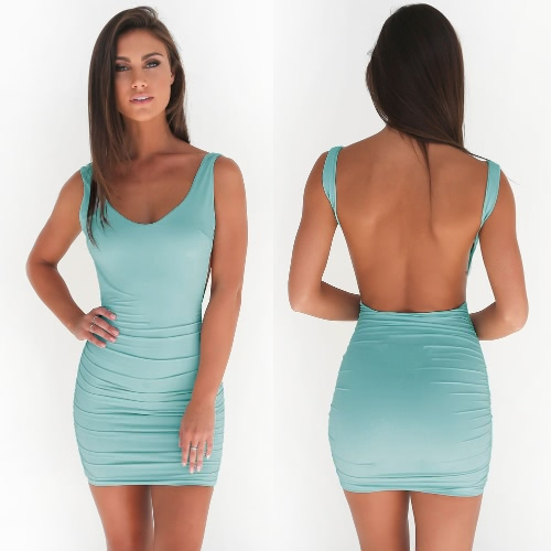 Sexy Women Backless Dress Sleeveless Bodycon Tank Dress Nightclub Party Bandage Dress Beach Summer Mini Pencil DressApparel &amp; Jewelry<br>Sexy Women Backless Dress Sleeveless Bodycon Tank Dress Nightclub Party Bandage Dress Beach Summer Mini Pencil Dress<br>