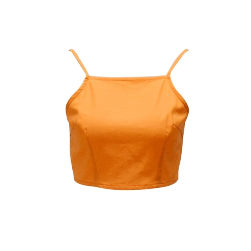 Women Cami Strap Cropped Top Open Tie Back Bow Sleeveless Adjustable Casual Crop Tops White/OrangeApparel &amp; Jewelry<br>Women Cami Strap Cropped Top Open Tie Back Bow Sleeveless Adjustable Casual Crop Tops White/Orange<br>