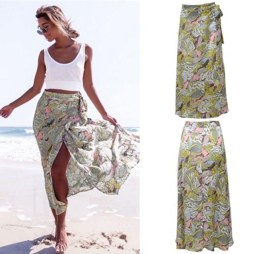 Sexy Women Vintage Floral Print Long Skirt Summer High Waist Boho Beach Casual Maxi Skirt YellowApparel &amp; Jewelry<br>Sexy Women Vintage Floral Print Long Skirt Summer High Waist Boho Beach Casual Maxi Skirt Yellow<br>